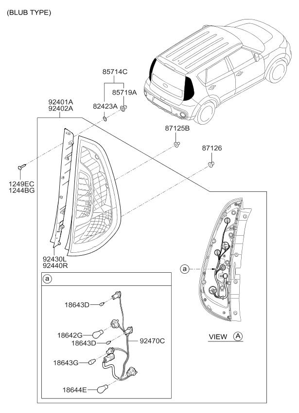 92402b2010 Genuine Kia Lens Amp Housing Rear Combination