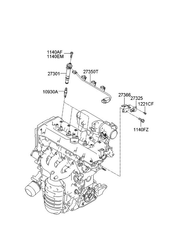 1881411051 genuine kia plug assembly spark rh kiapartsnow com