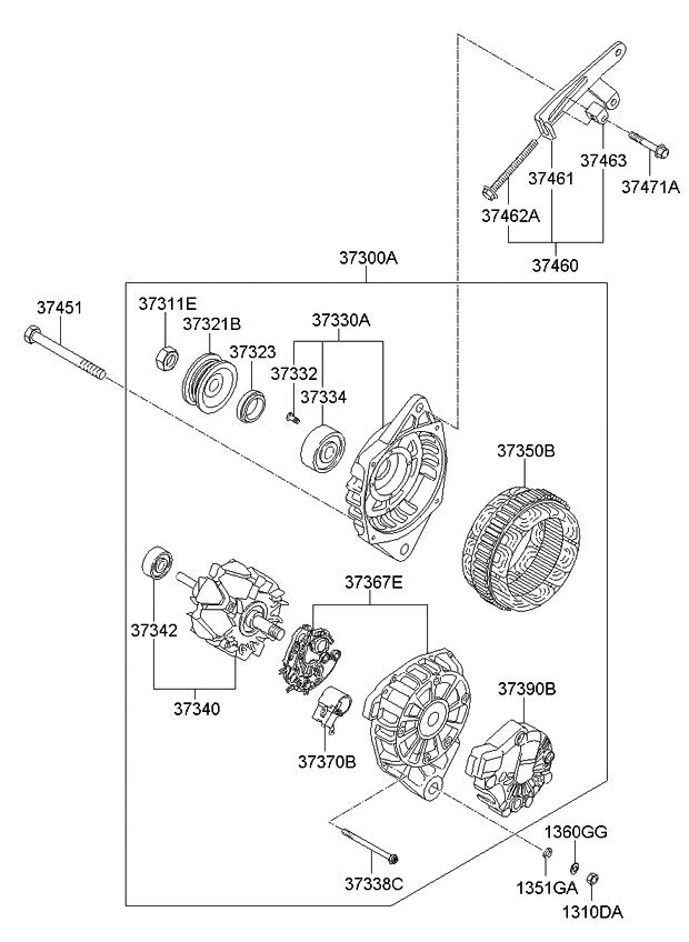 2007 kia rio alternator kia parts now rh kiapartsnow com Kia Starter 2004 kia rio alternator belt diagram