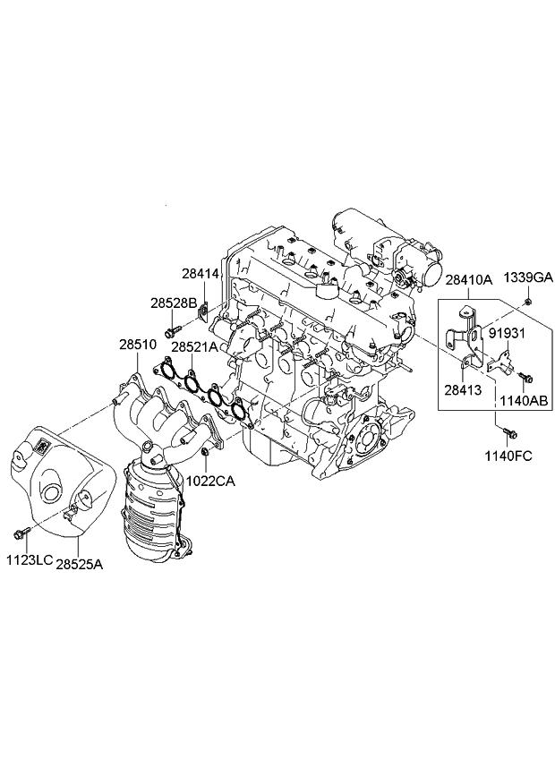 2009 kia rio exhaust manifold kia parts now 2002 Kia Sedona Engine Diagram 2009 kia rio exhaust manifold
