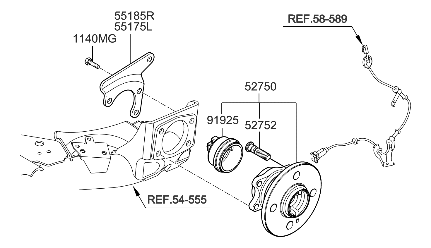 Outstanding 527501G001 Genuine Kia Hub Assembly Rear Wheel Wiring Database Unre4X4Andersnl