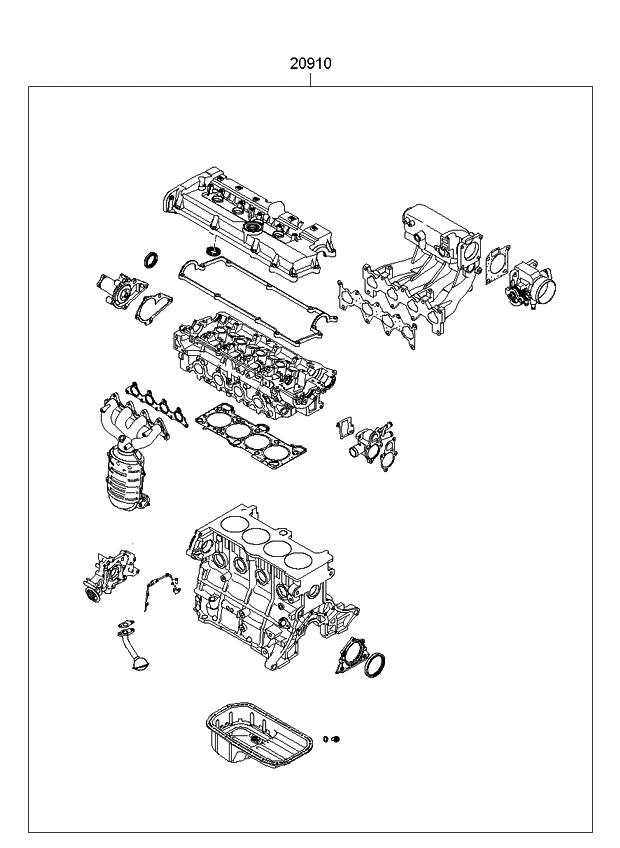 2010 Kia Rio Engine Gasket Kit