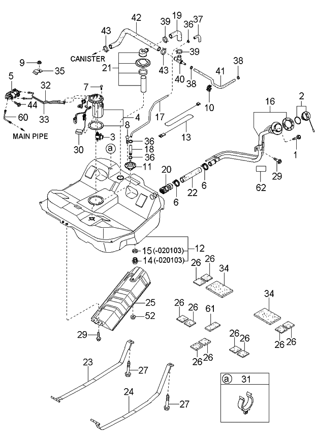 Wiring Diagram PDF: 2003 Kia Spectra Fuel Filter Location