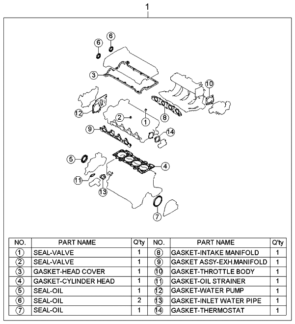 2004 Kium Engine Valve Diagram