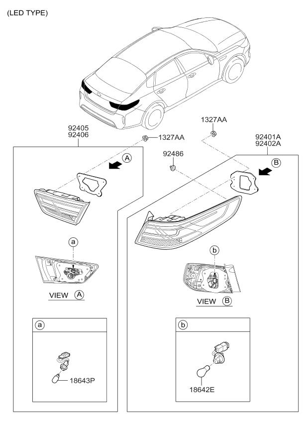Rear License Plate Light Lamp Assy for Kia 2006-2015 Optima Cadenza OEM Parts