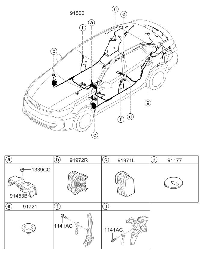 2018 Kia Optima Hybrid Wiring Harness-Floor - Kia Parts Now Kia Spectra Wiring Harness on kia versa, kia sonoma, kia rodeo, kia mpv, kia ranger, kia forenza, kia santa fe, kia azera, kia elantra, kia vue,