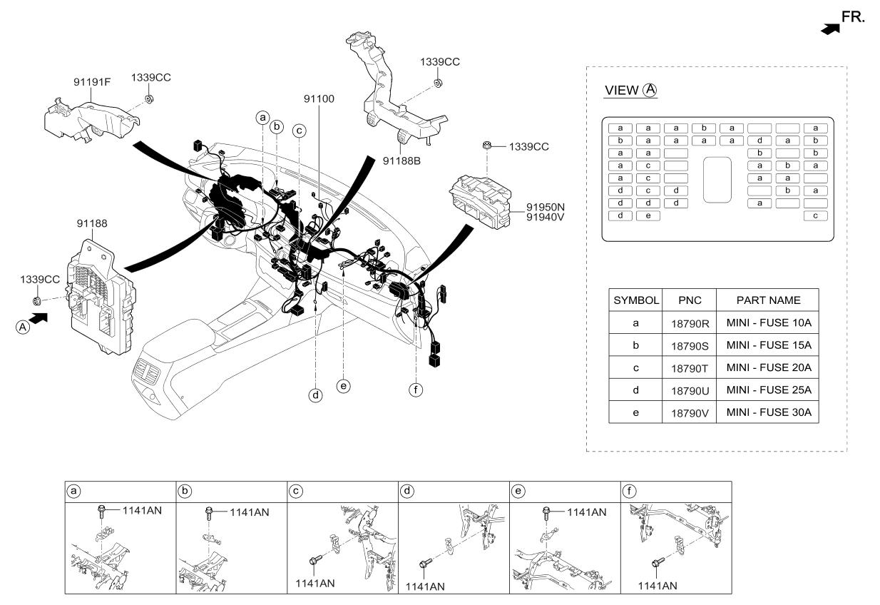 2017 Kia Optima Hybrid Main Wiring