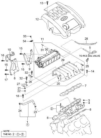 [SCHEMATICS_43NM]  2004 Kia Sedona Intake Manifold - Kia Parts Now | 2004 Kia Sedona Engine Diagram |  | Kia Parts