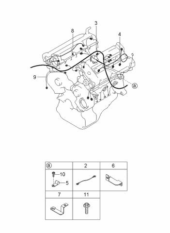 2003 Kia Sedona Wiring Harnesses Engine Transmission