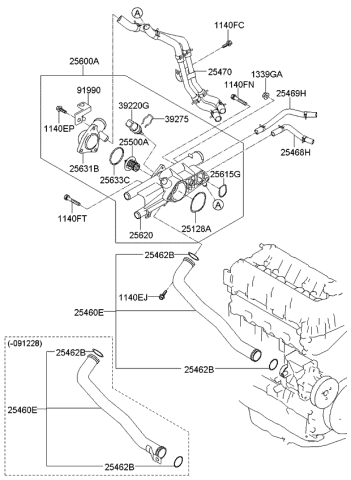 2012 Kia Sorento Coolant Pipe & Hose - Kia Parts NowGenuine Kia Parts