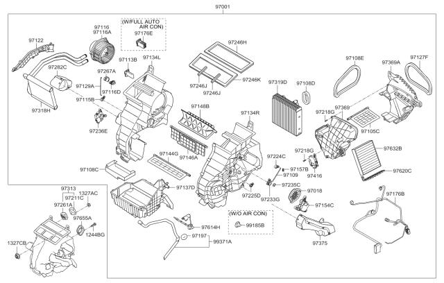 971132K000 - Genuine Kia BLOWER MOTOR ASSEMBLYKia Parts