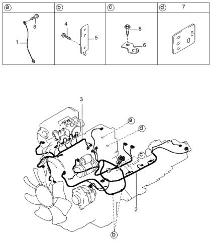 0K08B67070X - Genuine Kia WIRING ASSEMBLY-ENGINEKia Parts
