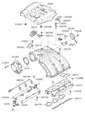 2011 Kia Sedona Intake Manifold Kia Parts Now