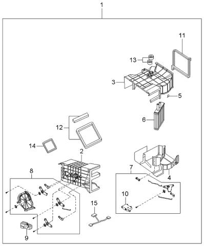0k07061a10a Genuine Kia Heater Core Assembly