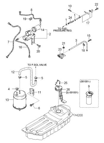 [SCHEMATICS_4ER]  0K07A1335Z - Genuine Kia PUMP ASSEMBLY-FUEL | 2002 Kia Sportage Engine Diagram Fuel System |  | Genuine Kia Parts