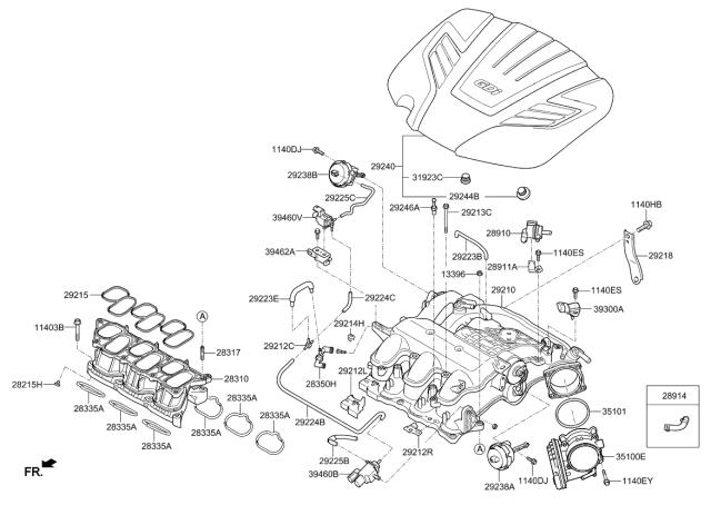 [SCHEMATICS_48IS]  2013 Kia Sorento Intake Manifold - Kia Parts Now | 2013 Kia Sorento Engine Diagram |  | Genuine Kia Parts