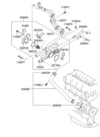 2014 kia sorento coolant pipe & hose - kia parts now  kia parts