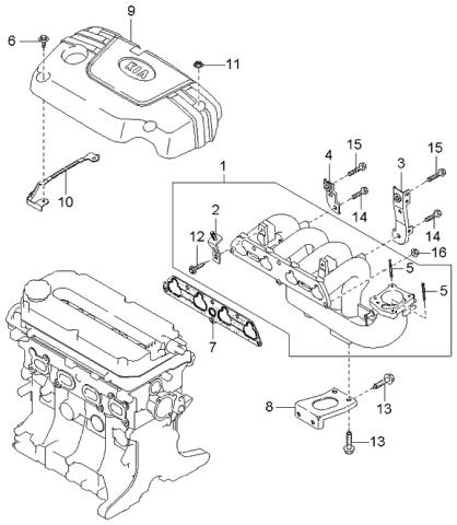 2002 Kia Rio Intake Manifold - Kia Parts NowKia Parts