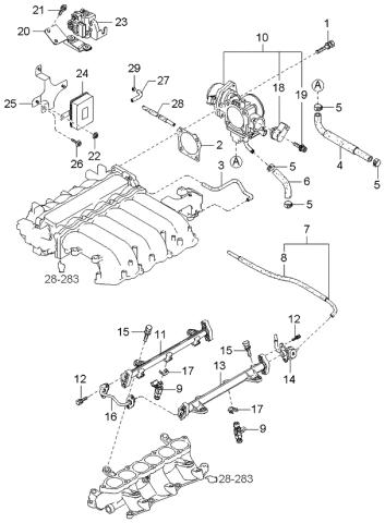 2005 Kia Amanti Throttle Body Injector Kia Parts Now