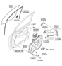 Related Parts for Kia Window Regulator - 824011U000