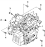 Related Parts for Kia Transmission Assembly - 450003A500