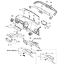 Related Parts for Kia Spectra Glove Box - 845102F100NM