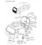 Related Parts for Kia Sedona Trunk Latch - 812304D002