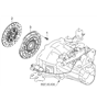 Related Parts for Kia Rio Clutch Disc - 4110023030