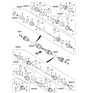 Related Parts for Kia Sportage CV Boot - 496952Y010