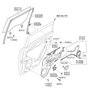 Related Parts for Kia Soul Window Regulator - 834022K000