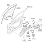 Related Parts for Kia Soul Window Regulator - 824012K000