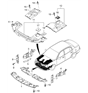 Related Parts for Kia Amanti Air Deflector - 291343F000