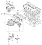 Related Parts for Kia Rondo Exhaust Manifold - 2850025450