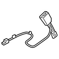 Kia 88830b2500eq Buckle Embly Front Seat Belt