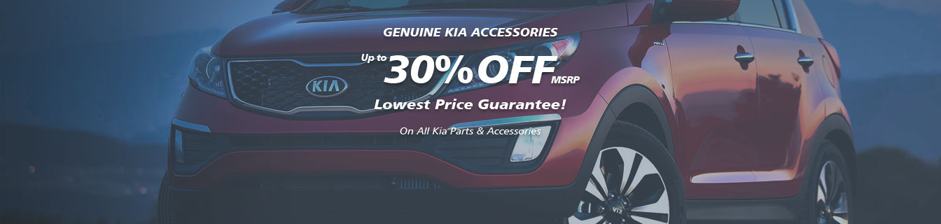 Genuine Kia accessories, Guaranteed lowest prices